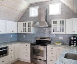 Kitchen Range Backsplash Philadelphia Iridescent Tile Backsplash Kitchen Traditional With