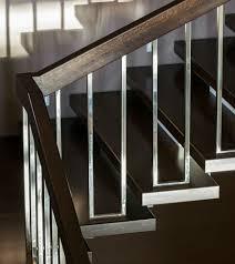 chrome banister rails dark brown and chrome modern stair rails stairs pinterest