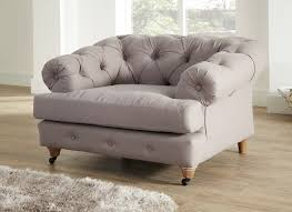 Chesterfield Sofa Linen by Mayfair Chesterfield 1 Seater Stonewashed Linen Armchair Dove Grey