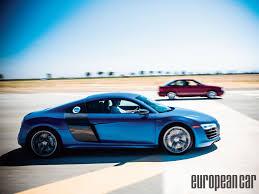nissan gtr vs audi r8 2014 audi r8 v10 vs 1988 audi 80 european car magazine