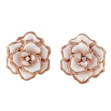 gold flower earrings for sale at 1stdibs