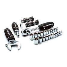 husky stubby set with extendable ratchet 46 piece new the home