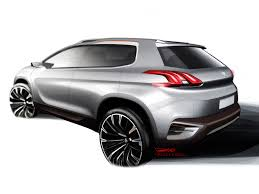 peugeot 2008 crossover peugeot urban crossover concept design sketch car body design
