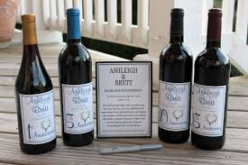 wine bottle wedding guest book wine bottle guest book kit gift boxed custom labels wedding
