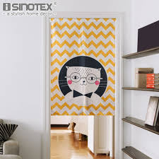 Short Curtains For Living Room by Click To Buy U003c U003c Japanese Door Curtain Linen Cotton Cartoon Printed