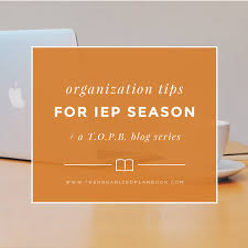 one organization organization for iep season part one the organized plan book