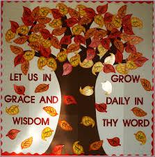 fall religious bulletin board classroom ideas