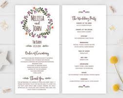 cheap wedding programs printed programs etsy