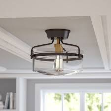 Semi Flush Pendant Lighting Alcott Hill Rhinebeck 1 Light Semi Flush Mount Reviews Wayfair