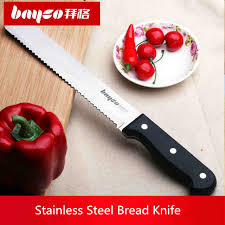 Kitchen Cutting Knives Free Shipping Bayco Kitchen Stainless Steel Serrated Bread Toast