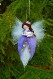needle felted waldorf fairy purple fairy springtime fairy