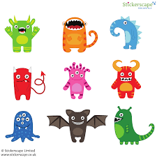 monster wall stickers space wall stickers stickerscape uk monster wall stickers