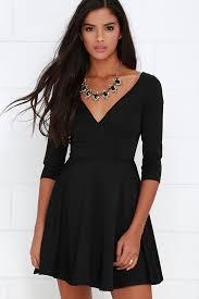 black skater dress black dress skater dress lbd sleeve dress 54 00