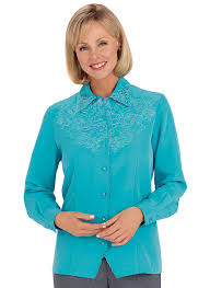 weskit blouse embroidered weskit blouse blue denim blouses