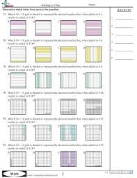 blank grid worksheet decimal worksheets