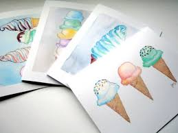watercolor notecards greeting cards cones notecards set of 12