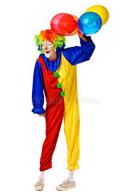 clown baloons happy birthday clown with balloons stock image image 26307049