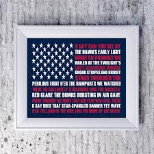 American Flag Decor 2014 Patriotic Art Print Memorial Day Decor Americana