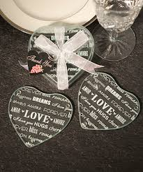 coaster favors heart design glass coaster favors