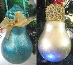 30 easy diy ornaments made from light bulbs