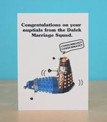 doctor who congratulations card dalek doctor who wedding card scifi by comradecards 4 50