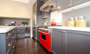 Red Kitchen Pics - 20 stylish ways to work with gray kitchen cabinets