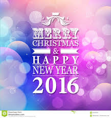 2016 merry and happy new year card or background with