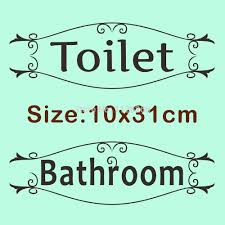 letters for home decor bathroom wall stickers toilet vinyl waterproof wall decals glass