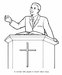pastor church coloring pages free coloring pages