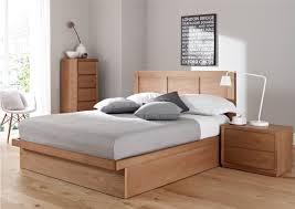 bedroom minimalis black painted wooden bed frames built in