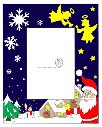 cornice per bambini disegno di cornice di natale verticale a colori per bambini