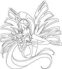 winx club bloom sirenix coloring pages information