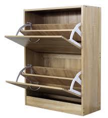 wicker basket storage wooden shoes cabinet modern furniture