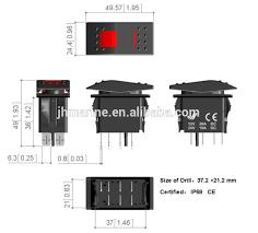 12v momentary white light t125 marine rocker switch with wiring