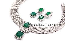 designer diamond sets diamond necklaces jewellery designs
