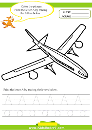 kids under 7 alphabet worksheets trace and print letter a