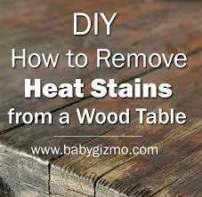 How To Remove Stains From Wood Table How To Remove Heat Stains From A Wood Table