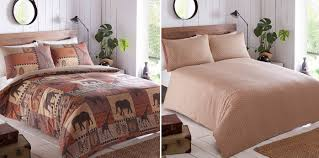 kruger safari themed duvet cover and 2 pillowcase bedding bed set kruger safari themed duvet cover and 2 pillowcase bedding bed set terracotta brown double amazon co uk kitchen home