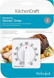 timer cuisine kitchencraft wind up mechanical 1 hour kitchen timer amazon co uk