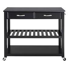 Kitchen Island With Black Granite Top Solid Black Granite Top Kitchen Cart Island With Optional Stool