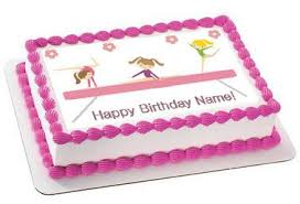 gymnastics cake toppers gymnastics tumbling cake or cupcake topper edible