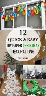 and easy diy paper decorations
