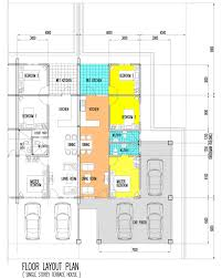 Double Story House Floor Plans by Marvellous Design Single Storey Terrace House Plans 4 Sin Siang
