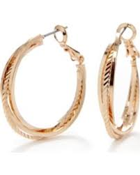 sensitive skin earrings deal alert rogers yellow gold tone sensitive skin hoop earrings