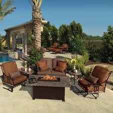 Patio Furniture Sets With Fire Pit by Decorating Luxury Furniture For Outdoor Sectional Clearance