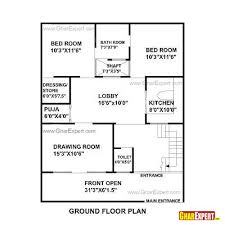 house plan for 33 feet by 40 feet plot plot size 147 square yards