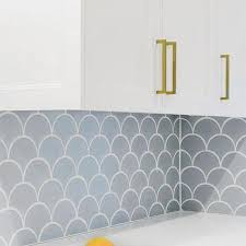 Tile Backsplash Kitchen Fish Scale Tile Backsplash Design Ideas