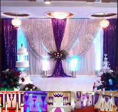 20x10ft wedding backdrop curtain purple decor sparkly sequin