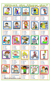 action words exercise poon pinterest worksheets printable