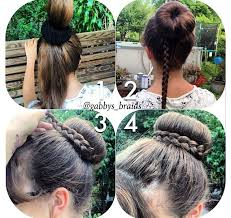 howtododoughnut plait in hair pictures on bun donut hairstyles cute hairstyles for girls